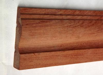 红胡桃木线条